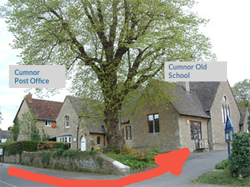 Cumnor Old School is behind the Post Office
