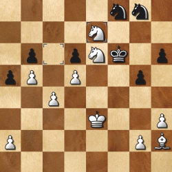 White has just played 42.Nxe7 there is no way Black can take either Knight safely, so Black will be at least a piece down
